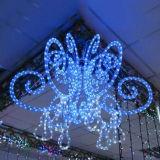 Kupfernes der Drahtseil-Licht-Serien-220V 100m der Dekoration-3 Licht Draht-des Flachseil-LED