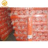 Testemunho laranja de plástico de protecção da Barragem de malha