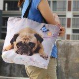 Sacola Dobrável Soft mulheres sacos de compras Saco de ombro grande senhora mala bolsa de fecho de correr Eco Sacola de Compras reutilizáveis Pocket