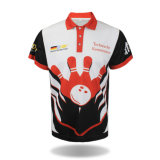 Kundenspezifische volle Sublimation-Bowlingspiel-Team-Uniform-Polo-Hemden