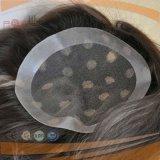 Il bordo del silicone ha delimitato il Toupee della parte dei capelli delle donne (PPG-l-01503)