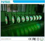 Schermo di visualizzazione creativo esterno del LED del cerchio per la pubblicità al minuto