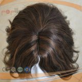Parrucca poco costosa di Short dei capelli umani (PPG-l-0646)