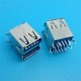 A cor azul 90 grau duplo Conector USB 3.0