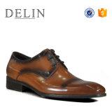 Delin обувь для изготовителей оборудования на заводе мужчин кожаную обувь мужчин обувь