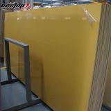 Populäre Qualitäts-künstlicher zurechtgeschnittener Platte-dunkler gelber Quarz-Stein China
