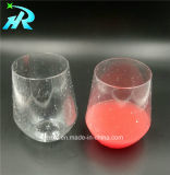 tasse de café ronde en plastique en verre de vin 12oz