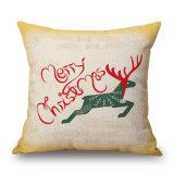 De vrolijke van het Katoenen van Kerstmis Dikke Dekking Kussen van het Linnen Stof Afgedrukte (35C0178)