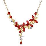 La moda aretes y collar Hotsale Conjunto de joyas de la mujer