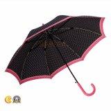 防風の長くまっすぐな雨傘