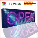 Visualización de pantalla programable a todo color al aire libre de la información de balanceo del USB de la visualización de LED de la pulgada de P10 38X12.6 LED