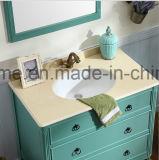 Gabinetes de banheiro impermeáveis clássicos americanos pequenos da madeira contínua do tamanho (ACS1-W74)