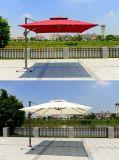 La aleación de aluminio muebles de exterior jardín Roma paraguas con la base de agua