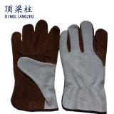 Перчатки заварки Split кожи коровы 10.5 дюймов короткие работая