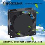 type ventilateur de refroidissement de fil de moteur de Pôle ombragé par 80X80X25mm roulement à billes à C.A. de 24V