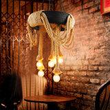 Свет желтой пеньковой веревки покрышки привесной с 6 светами