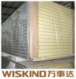 SGS material decorativo panel sándwich de poliuretano para la construcción de la estructura de acero