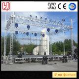Fascio di alluminio della visualizzazione di LED, basamento del fascio di illuminazione della fase, sistema del fascio di concerto del tetto dello zipolo