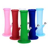 Tubulação de fumo colorida reta de fumo do silicone da tubulação de água de Siliconebong