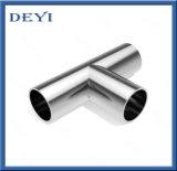 304 / 316L Sanitaria de acero inoxidable de soldadura Igualdad Tee (DYTF-014)