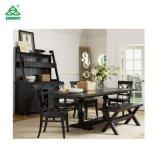 Estilo campo americana de buena calidad de madera maciza mesa de comedor con sillas