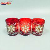 Jarra de cristal con velas perfumadas y patrón Blingbling