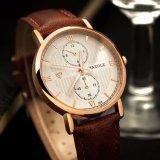 Montre de mode de luxe de modèle de flèche indicatrice de la vente H355 d'hommes d'affaires de caisse mince chaude de montre pour les hommes