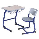 L. Doutor Único Estudante Mesa e cadeira para a mobília de escola com o desktop da madeira do MDF