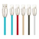 싼 다채로운 강한 물고기 패턴 연결관 USB 데이터 케이블
