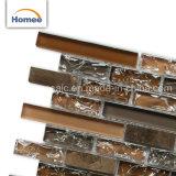 La grieta de hielo de alta calidad para interiores decoración de mosaico de vidrio