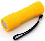 Comercio al por mayor 9ABS linterna LED de luz intensa de la luz de linterna ABS