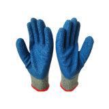 Het Afgedrukte Embleem van het latex Handschoen, de Met een laag bedekte Handschoen van de Leverancier van China Latex