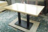 白い大理石の小さいコーヒーテーブルのダイニングテーブルセット