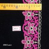 testo fisso splendido del merletto di Venezia della maglia di 8cm nel colore rosa prudente Hme810