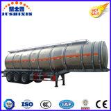 3 del árbol 50cbm de aluminio de la aleación del combustible del transporte del tanque acoplado semi