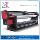 2018 UV 잉크젯 프린터 Withgen5 Printhead 판매를 위한 알루미늄 기치 인쇄 기계를 구르는 새로운 3.2m 롤