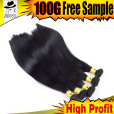 Cheveux humains brésiliens superbes de noir de gicleur