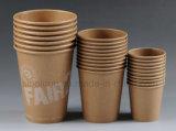 Desechables de alta calidad Papel Kraft Biodegradan Copa de bebida caliente