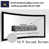 Het aangepaste Gebogen Vaste Scherm van de Projector van het Frame, Geweven Akoestische Transparant