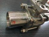 El acero inoxidable alarga la vávula de bola manual 3PCS de la soldadura a tope