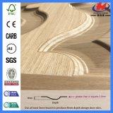 Boa qualidade porta interior laminada de madeira do folheado de Sapele/Teak (JHK-002)