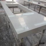 Parte superiore di superficie solida personalizzata di vanità della stanza da bagno del controsoffitto