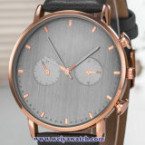Custom Mesdames montres à quartz de cuir wist, femme de regarder en alliage (WY-17044)