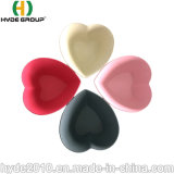 Sécurité Les plus populaires multicolores de Pure Nature Fibre de bambou forme de coeur bol de soupe