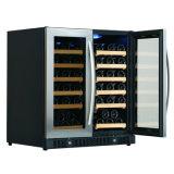 """二重ゾーンの隣り合わせのガラスドアのワインの飲料のクーラーで構築される30 """""""