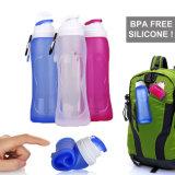 BPA pieghevoli liberano la bottiglia del silicone 500ml per l'acqua