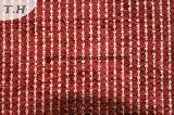 2015 Fios de poliésteres tingidos sofá em tecido Jacquard cor vermelha