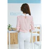 Beiläufige lange Hülsen-Chiffon- Frauen-Blusen-Leisurely Hemd neu