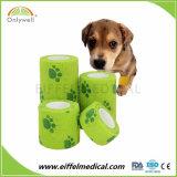 ペットのための足プリントが付いている獣医の覆いの医学の凝集の包帯