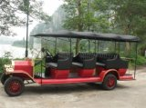 Feiertags-Dorf-batteriebetriebener Weinlese-Doppelventilkegel-Bus